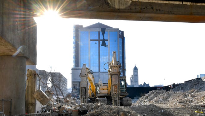 The old LifeWay site  has been gutted to minimize debris during the implosion planned for Saturday Jan 6.Thursday Jan. 4, 2018, in Nashville, Tenn