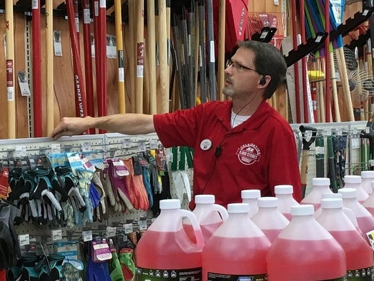 Ned Green, owner and president of Weiders Hardware, is on the sales floor at Weiders' Honeoye Falls location.