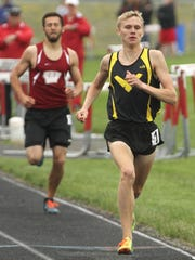 Colonel Crawford's Chad Johnson swept the 800 and 3,200