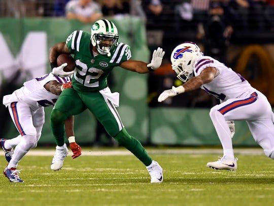 New York Jets running back Matt Forte (22) rushing