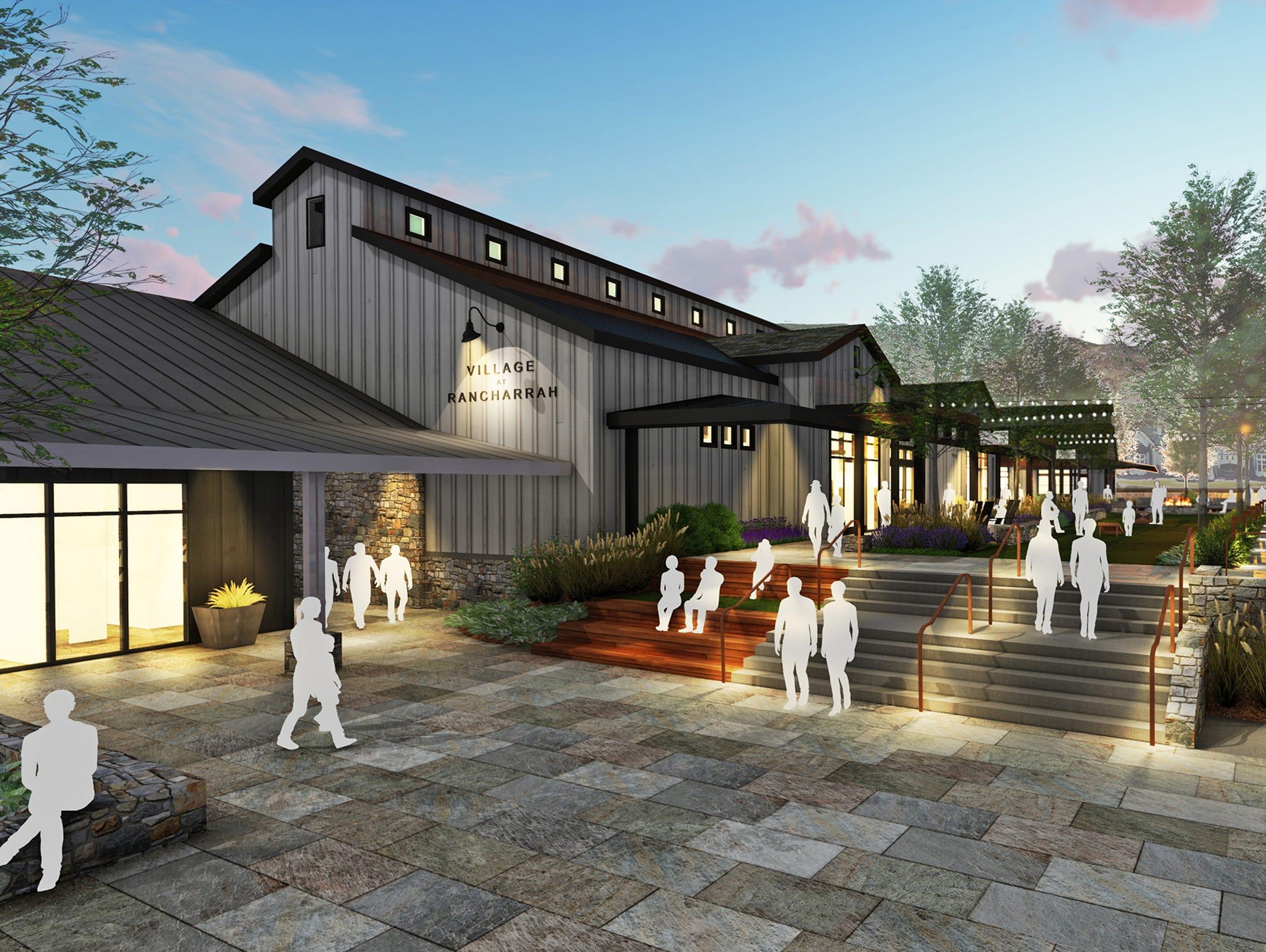 Artist renderings of The Village center at Rancharrah