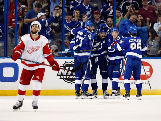 Sad Red Wings, Detroit Red Wings at Tampa Bay Lightning
