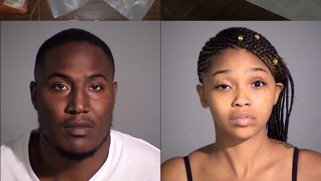 Anthony Tinnin and Shanee Williams are facing felony charges after being stopped with heroin and a gun in their car.