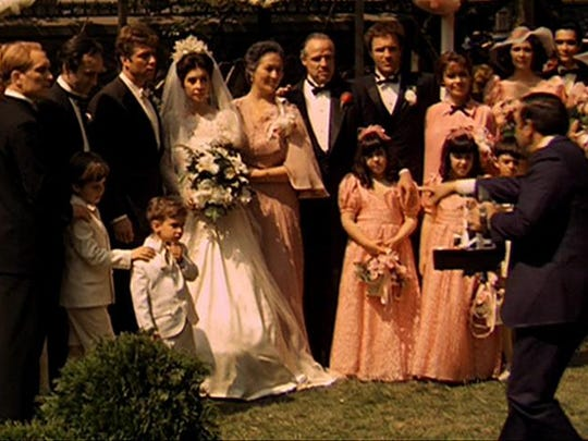 The property looks familiar from the iconic garden party scene in the movie, when Vito's daughter, Connie Corleone, got married.