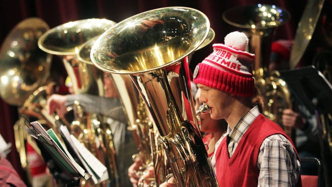Low-brass instruments will spread tidings of comfort and joy during Tuba Holiday, which will be at noon Dec. 24 at the Elsinore Theatre.