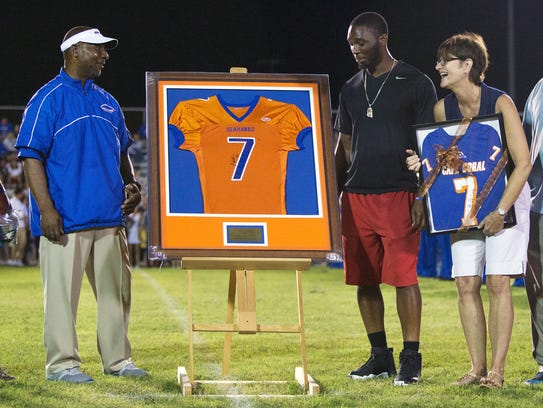 Cape Coral High school retired the jersey of former