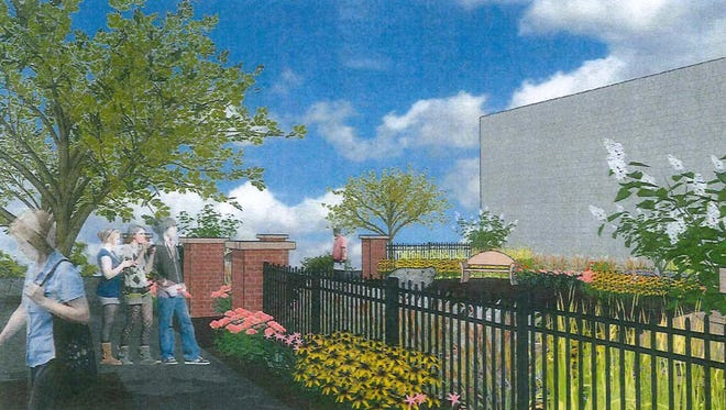 A digital rendering of what the proposed park downtown on Central Avenue would look like.