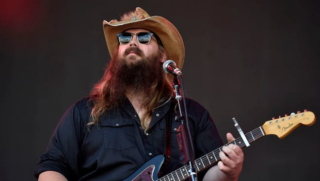 Chris Stapleton performs during the 2016 Bonnaroo Music and Arts Festival at Great Stage Park.