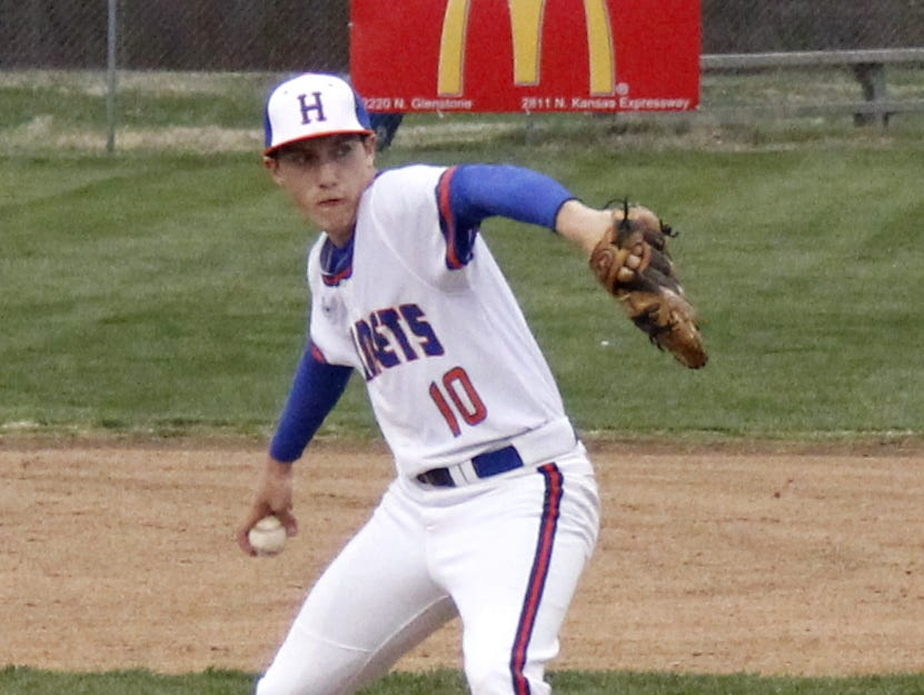 Hillcrest senior Adam Barton stepped in as the Hornets' No. 1 starter when injuries depleted the pitching staff. When he's not pitching, Barton bats .440 for Hillcrest.