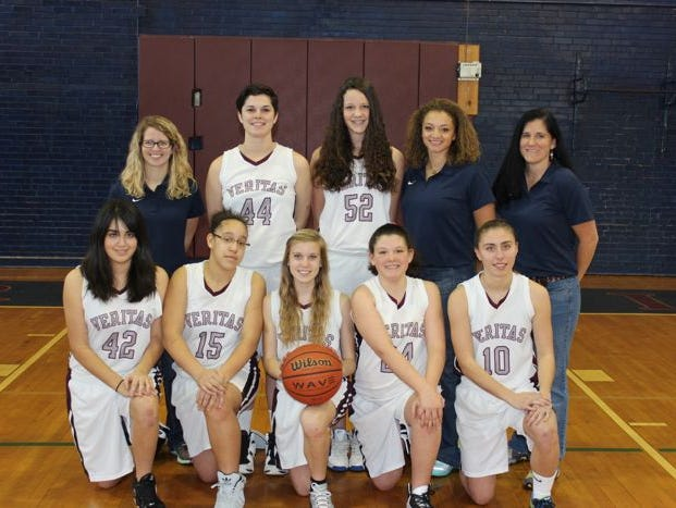 Tara Alexander coaches the Veritas Christian Academy girls basketball team.