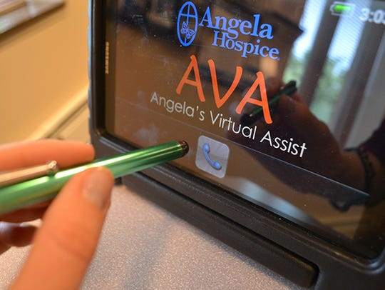 Angela Hospice's computer tablet, AVA, offers video