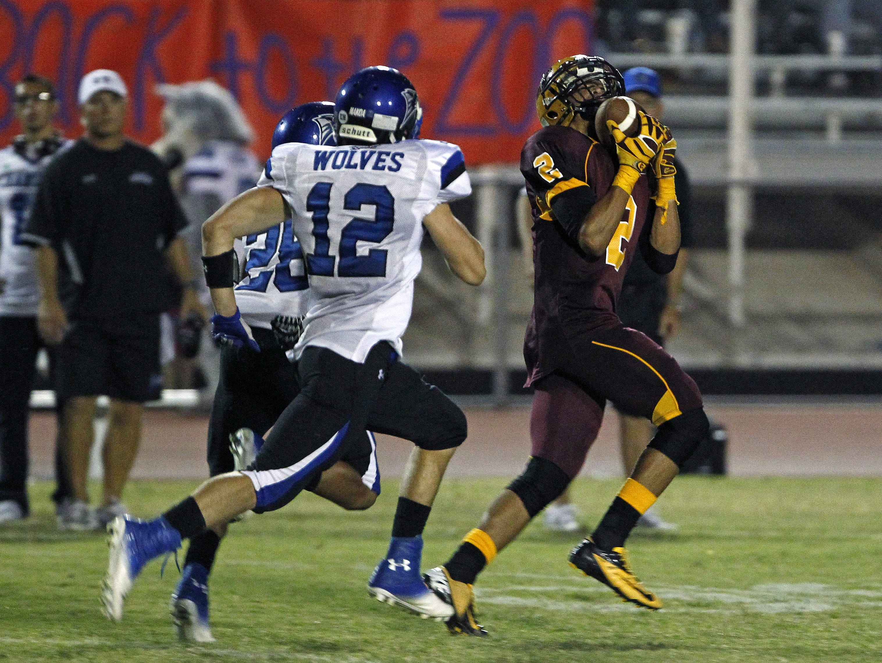 Jalen Brown caught a state-record 50 career touchdown passes at Mountain Pointe from 2010-13.