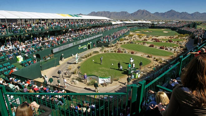 The 16th hole at the Waste Management Phoenix Open on Feb. 2, 2014 in Scottsdale.