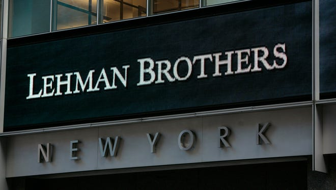 (FILES) The sign for Lehman Brothers headquarters is seen in New York on September 15, 2008.