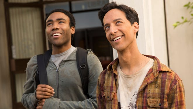 Donald Glover and Danny Pudi on 'Community.'