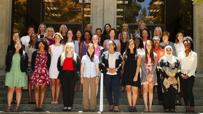 Participants in the KPMG Future Leaders Program attend the retreat at Stanford University.