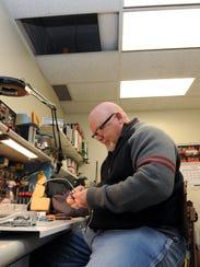 Tom Jenkins, instrumentation technician, works at his