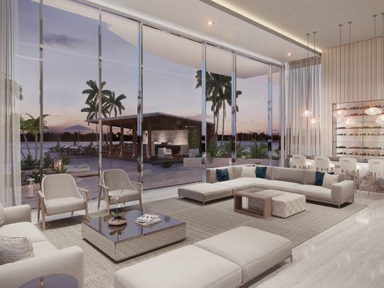 The owners' lounge is one of the building amenities