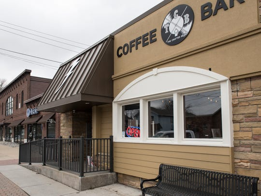 The downtown DeWitt location of the Crafted Bean coffee shop appears in a Lansing State Journal file photo.
