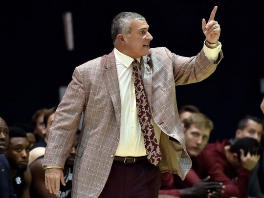 Nov. 27: South Carolina coach Frank Martin reacts during