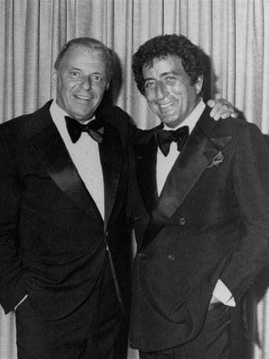In this July 1980 file photo, Frank Sinatra, left,