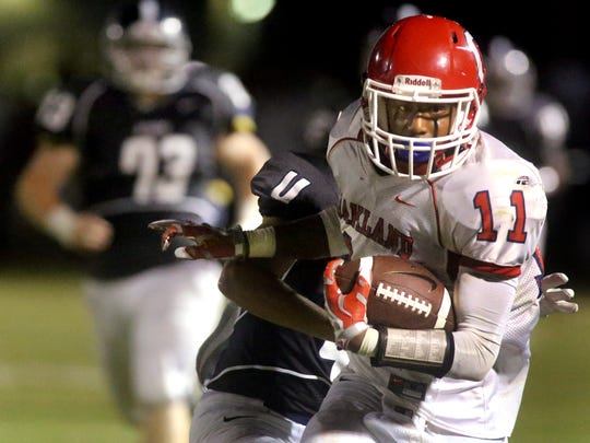Josh Cunningham and his Oakland teammates are averaging 38.3 points over the past three games and should provide unbeaten Smyrna its biggest test to date on Friday night.