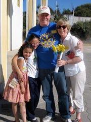 Elmbrook Rotary Club member Mark Zalewski and his wife