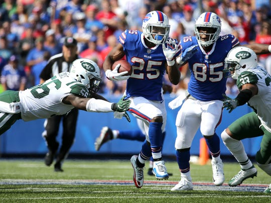 Bills running back LeSean McCoy ran for 110 yards in a 21-12 win over the Jets.