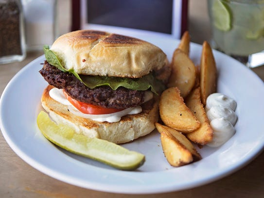 A Classic Burger at Café Beaudelaire in Ames