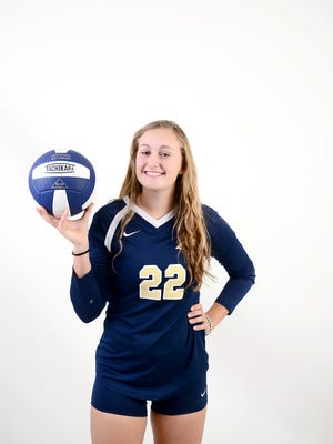 Roberson senior Katrin Madden was a leader for the Rams' volleyball team this season.
