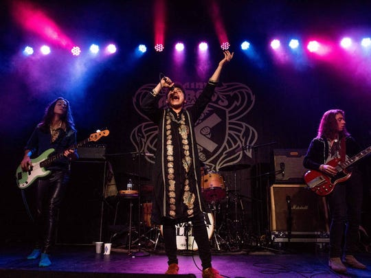 Greta Van Fleet played the first of two sold out shows at Saint Andrew's Hall on Thursday, Dec. 28, 2017. The Frankenmuth-based rock band comprises twin brothers Josh Kiszka on vocals with Jake on guitar, younger brother Sam Kiszka bass guitar and drummer Danny Wagner.