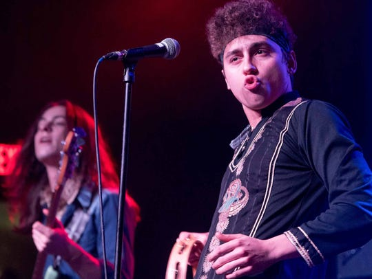Sam and Josh Kiszka of Greta Van Fleet at Saint Andrew's Hall in Detroit on Dec. 28, 2017.