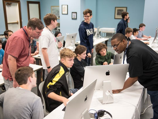 Teenagers can learn how to build apps at Asheville
