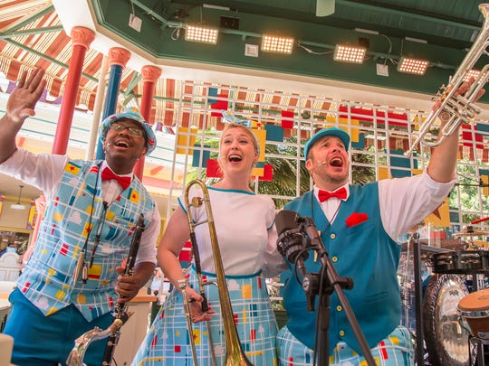 TripleDent Gum presents The Pixarmonic Orchestra, which will play at the Paradise Garden Bandstand near Pixar Pier.