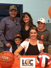 Recent SVHS graduate Josy Wortman is sign up to play volleyball and basketball at Lassen College this fall. Joining her are parents Todd and Ally Sceirine and younger brothers Dante (left) and Jackie Sceirine.