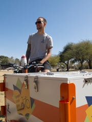 Sean King is the Book Bike Ambassador for the Tempe Public Library.