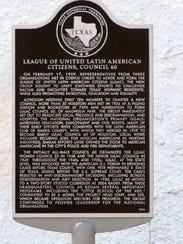 A historical marker in Corpus Christi honors the city