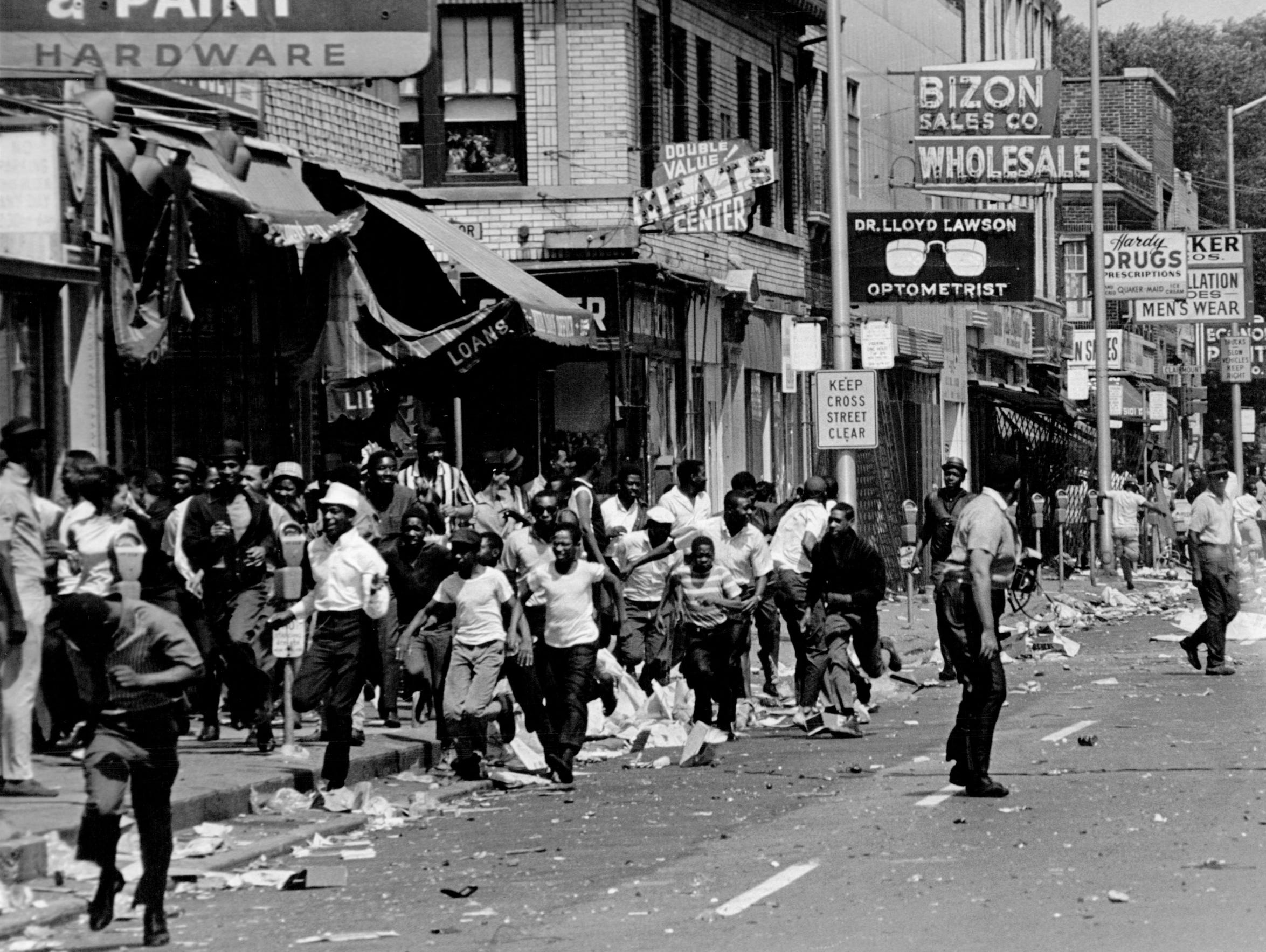 The Streets Of Detroit During The 1967 Riot