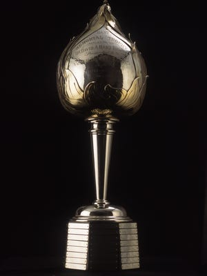The Hart Memorial Trophy is presented yearly to the Most Valuable Player in the National Hockey League.