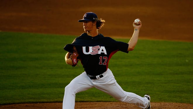 Brewers prospect Josh Hader pitched for Team USA during the Pan Am Games last month in Canada.