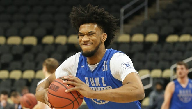 Duke Blue Devils forward Marvin Bagley III is a trendy pick for the Phoenix Suns in the 2018 NBA draft in NBA mock drafts.