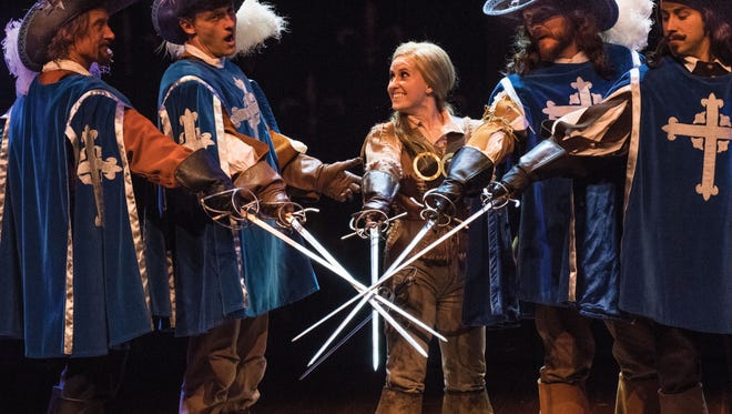 A scene from the Utah Shakespeare FestivalÕs 2016 production of The Three Musketeers.