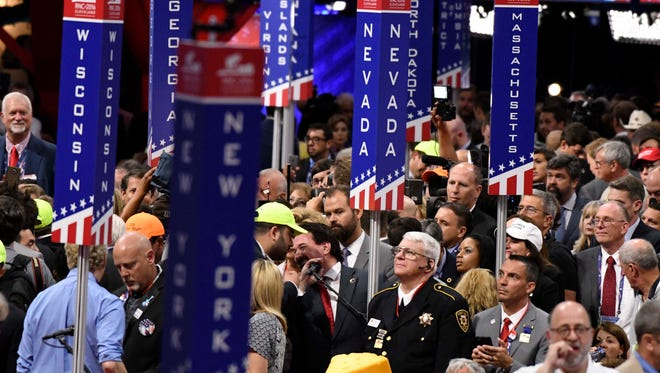 Delegates cast their votes at the Republican National Convention in Cleveland July 19, 2016. 20160719_ajw_usa_180.jpg