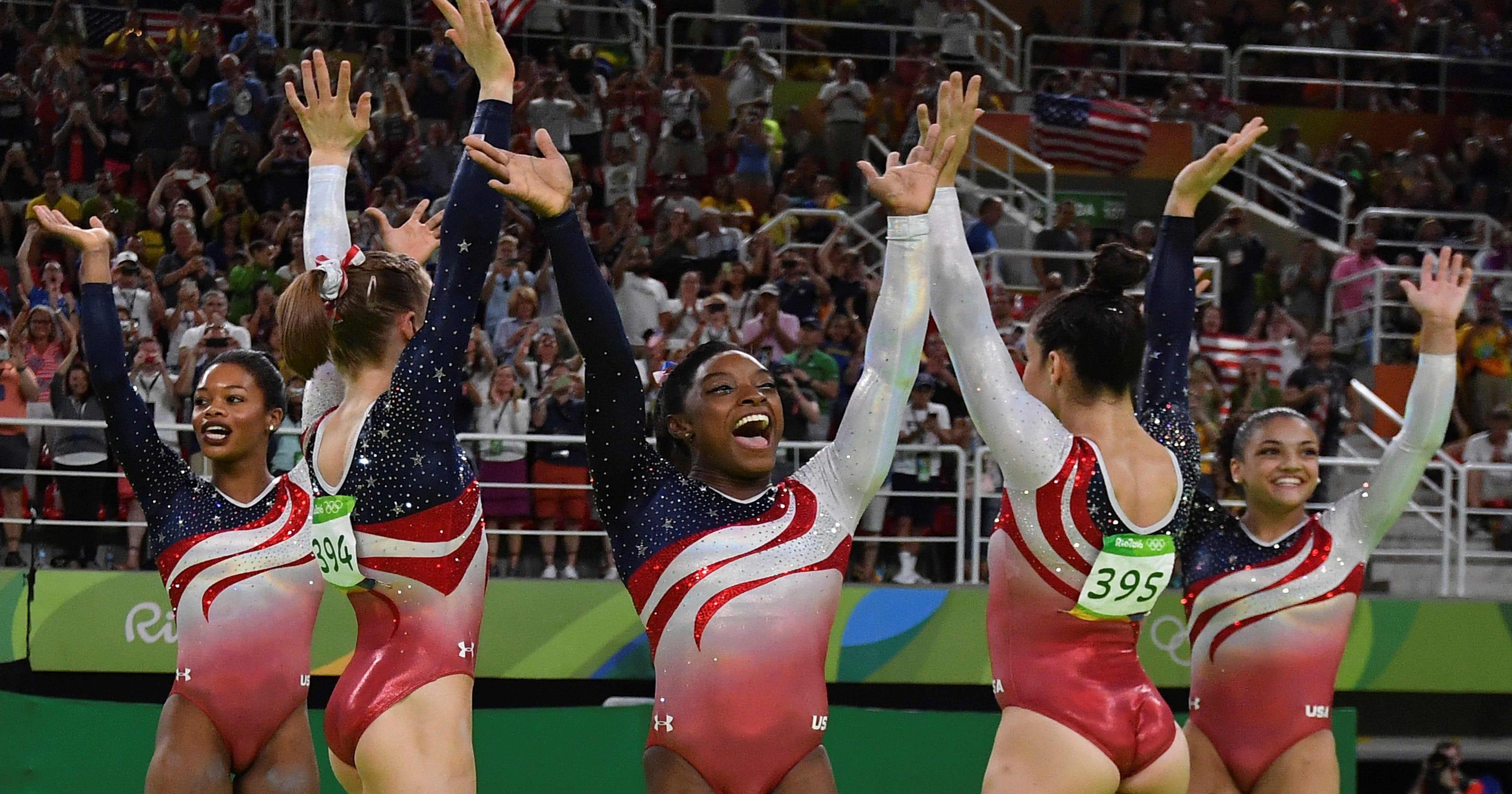 8ec8d511c The U.S. gymnastics team s shimmering leotards had 4