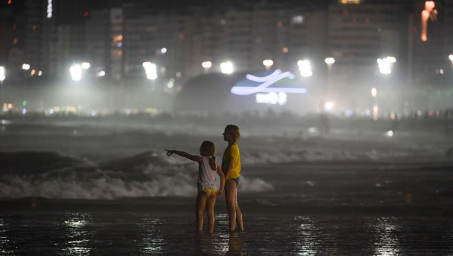 The Australian Olympic Committee has banned its athletes from walking along the sand in Rio's beaches because of a spike in petty thefts.  Aug 6, 2016; Rio de Janeiro, Brazil; A general view from Copacabana Beach outside of Beach Volleyball Arena. Mandatory Credit: Jack Gruber-USA TODAY Sports ORG XMIT: USATSI-323300 ORIG FILE ID:  20160806_jel_usa_252.jpg