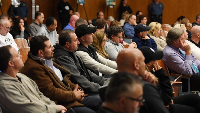Crowd looks on during the Wayne Board of Education meeting on Nov. 17. Parents spoke out against the administration's actions which led to a football playoff ban which was eventually overturned.