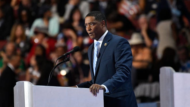 Rep. Cedric Richmond, D-La., speaks during the 2016 Democratic National Convention in Philadelphia July 28, 2016.