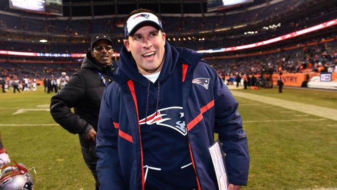 New England Patriots offensive coordinator Josh McDaniels.