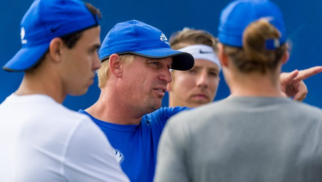 FGCU sixth-year men's coach CJ Weber is working to point the Eagles back to an ASUN tournament title after last season's upset loss at USC Upstate.