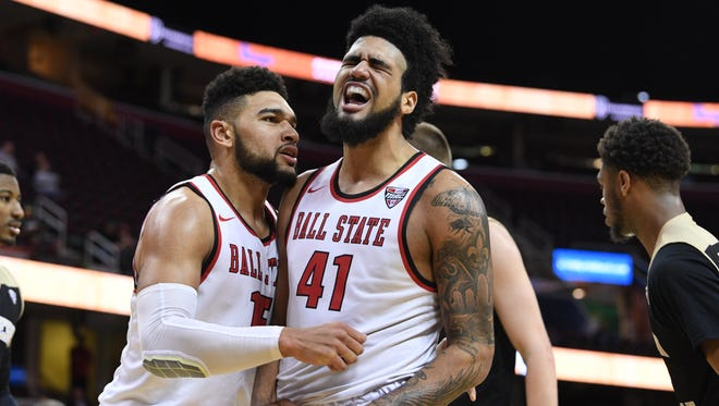 Franko House (left) and Trey Moses will be key for Ball State against Akron on Friday.